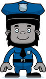 Cartoon Smiling Police Officer Gorilla Stock Image