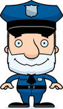 Cartoon Smiling Police Officer Man Royalty Free Stock Images