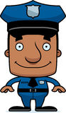 Cartoon Smiling Police Officer Man Royalty Free Stock Photos
