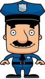Cartoon Smiling Police Officer Man Royalty Free Stock Photography