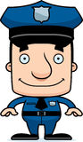 Cartoon Smiling Police Officer Man Royalty Free Stock Photo