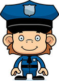Cartoon Smiling Police Officer Monkey Royalty Free Stock Photo