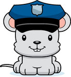 Cartoon Smiling Police Officer Mouse Royalty Free Stock Photo