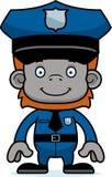 Cartoon Smiling Police Officer Orangutan Stock Images