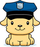Cartoon Smiling Police Officer Puppy Stock Image