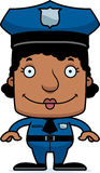 Cartoon Smiling Police Officer Woman Stock Photos