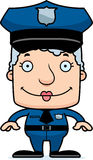 Cartoon Smiling Police Officer Woman Royalty Free Stock Photography
