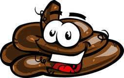 Cartoon Smiling Poop Pile Royalty Free Stock Image