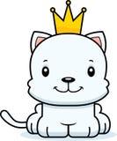 Cartoon Smiling Prince Kitten Stock Image