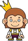 Cartoon Smiling Prince Monkey Royalty Free Stock Photos