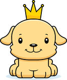 Cartoon Smiling Prince Puppy Stock Photos