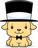 Cartoon Smiling Puppy Top Hat Royalty Free Stock Photography