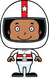 Cartoon Smiling Race Car Driver Boy Stock Images