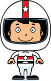 Cartoon Smiling Race Car Driver Boy Royalty Free Stock Photos
