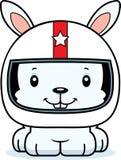 Cartoon Smiling Race Car Driver Bunny Stock Image