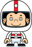 Cartoon Smiling Race Car Driver Chimpanzee Stock Photography