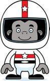 Cartoon Smiling Race Car Driver Gorilla Stock Photography