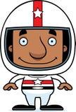 Cartoon Smiling Race Car Driver Man Royalty Free Stock Images