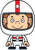 Cartoon Smiling Race Car Driver Monkey Royalty Free Stock Image