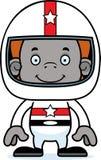 Cartoon Smiling Race Car Driver Orangutan Stock Images