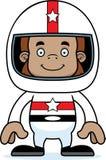 Cartoon Smiling Race Car Driver Sasquatch Stock Photography
