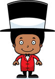 Cartoon Smiling Ringmaster Boy Royalty Free Stock Image