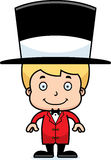 Cartoon Smiling Ringmaster Boy Stock Photo