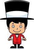 Cartoon Smiling Ringmaster Boy Royalty Free Stock Photography