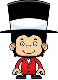 Cartoon Smiling Ringmaster Chimpanzee Stock Photos