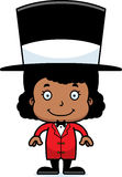 Cartoon Smiling Ringmaster Girl Stock Photos