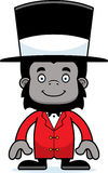 Cartoon Smiling Ringmaster Gorilla Royalty Free Stock Images
