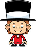 Cartoon Smiling Ringmaster Monkey Royalty Free Stock Photo