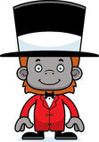Cartoon Smiling Ringmaster Orangutan Royalty Free Stock Image