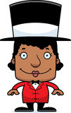 Cartoon Smiling Ringmaster Woman Stock Images