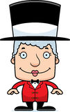 Cartoon Smiling Ringmaster Woman Stock Photos