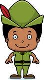 Cartoon Smiling Robin Hood Boy Stock Photography