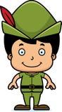 Cartoon Smiling Robin Hood Boy Stock Images
