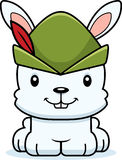 Cartoon Smiling Robin Hood Bunny Stock Photography