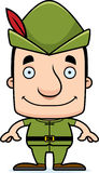 Cartoon Smiling Robin Hood Man Royalty Free Stock Images