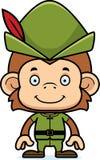 Cartoon Smiling Robin Hood Monkey Stock Photography
