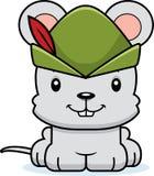 Cartoon Smiling Robin Hood Mouse Stock Image