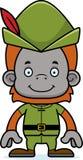 Cartoon Smiling Robin Hood Orangutan Royalty Free Stock Images