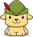 Cartoon Smiling Robin Hood Puppy Royalty Free Stock Photos
