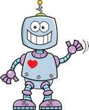 Cartoon smiling robot. Royalty Free Stock Photos