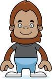 Cartoon Smiling Sasquatch Royalty Free Stock Image