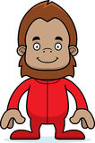 Cartoon Smiling Sasquatch In Pajamas Royalty Free Stock Photography