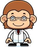 Cartoon Smiling Scientist Monkey Royalty Free Stock Photos