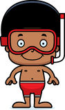 Cartoon Smiling Snorkeler Boy Stock Photos