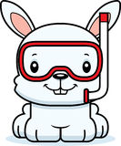 Cartoon Smiling Snorkeler Bunny Royalty Free Stock Image