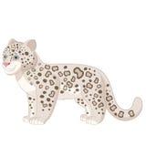 Cartoon smiling  Snow Leopard Stock Photography